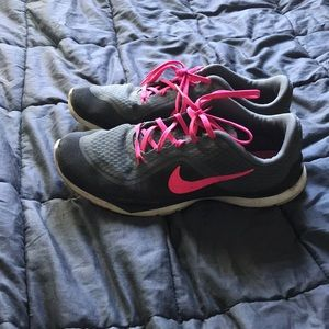 Nike grey and pink sneakers